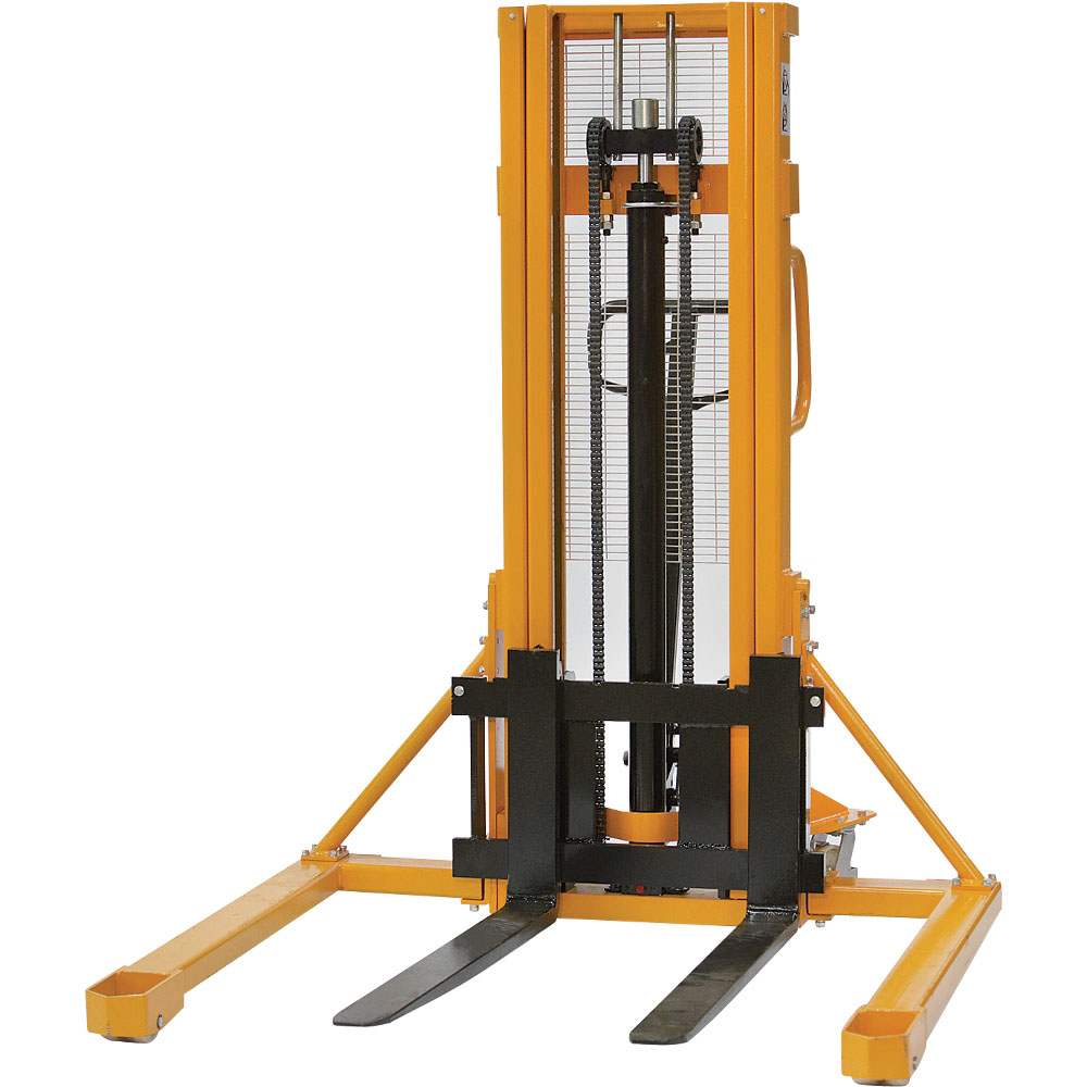 1000kg 1 5m Manual Straddle Stacker Truck Pallet Trucks