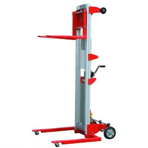 181kg Portable Hand Stacker Truck 2.5m Lift