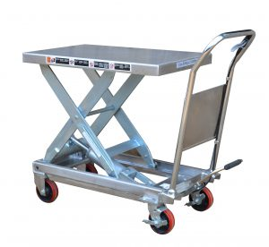 TF50S Partial Stainless Steel Scissor Lift Table