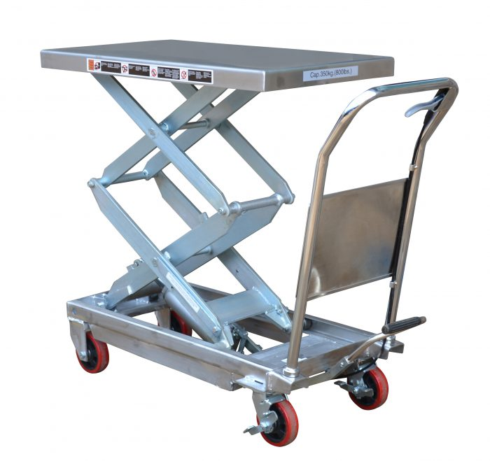 TFD35S Partial Stainless Steel Double Scissor Lift Table